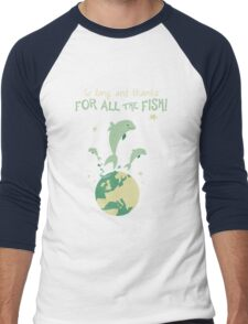 Thanks for the fish! Men's Baseball ¾ T-Shirt