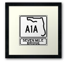 A1A - Seven Mile Bridge Framed Print