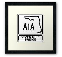 A1A - Seven Mile Bridge Framed Print