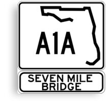 A1A - Seven Mile Bridge Canvas Print