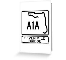 A1A - Seven Mile Bridge Greeting Card