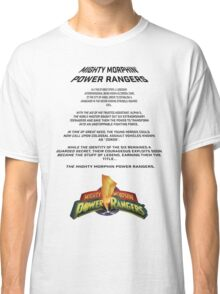 MMPR Movie Opening Credits Classic T-Shirt