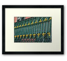 Wrought Iron With Panache Framed Print
