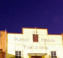 The Tingoora Hall at night Sticker