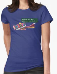 Katamari- King of all Cosmos 'Here's an idea: You can do better.' Womens Fitted T-Shirt