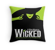 Wicked Broadway Musical - Untold Story about Wizard Of Oz - T-Shirt Throw Pillow