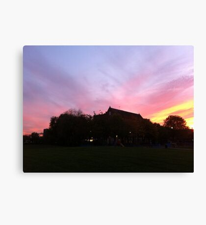 East End Sunset Canvas Print