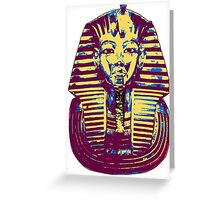 5- Colored King Tut Mask Greeting Card
