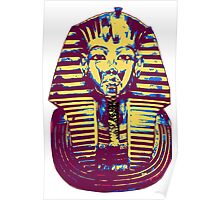 5- Colored King Tut Mask Poster