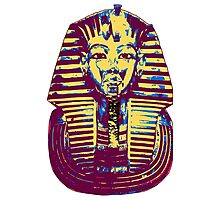 5- Colored King Tut Mask Photographic Print