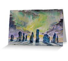 Winter Solstice at Callanish stone circle. Greeting Card