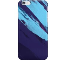 Blue Icing: Watercolor Paint Strokes iPhone Case/Skin