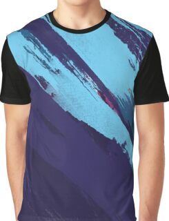 Blue Icing: Watercolor Paint Strokes Graphic T-Shirt