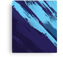 Blue Icing: Watercolor Paint Strokes Canvas Print