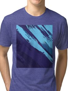 Blue Icing: Watercolor Paint Strokes Tri-blend T-Shirt