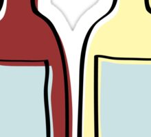 Wine bottles Sticker