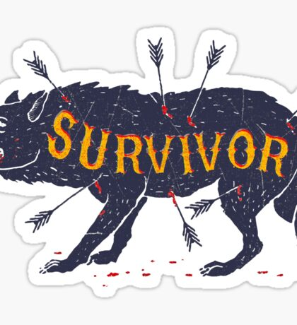 Surviving Wild Wolf Sticker
