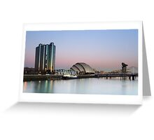 Glasgow River Clyde at Sunrise Greeting Card