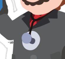 Black Suit Mario Sticker