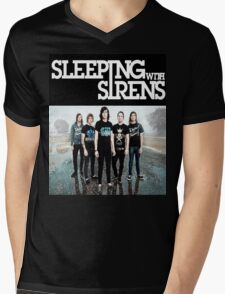 Sleeping With Sirens Tank Finish by md  Mens V-Neck T-Shirt