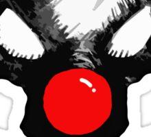 Bozo Skull 2  - Red Nose Sticker