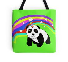 Cute Panda Bear Fantasy Rainbow Unicorn  Tote Bag