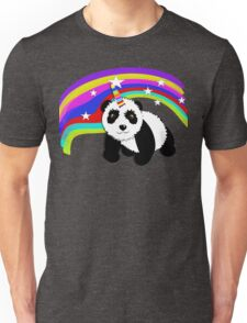 Cute Panda Bear Fantasy Rainbow Unicorn  Unisex T-Shirt