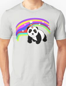 Cute Panda Bear Fantasy Rainbow Unicorn  T-Shirt