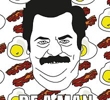 Ron Swanson - Eggs & Bacon by sherryl95