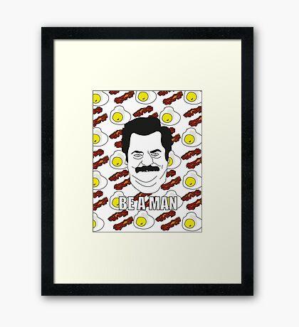 Ron Swanson - Eggs & Bacon Framed Print
