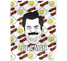 Ron Swanson - Eggs & Bacon Poster