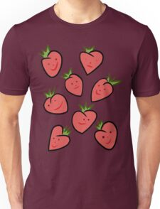 Happy Strawberries Unisex T-Shirt