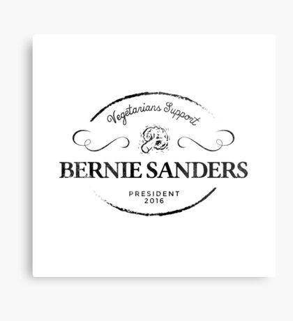Vegetarians  Support Sanders Metal Print