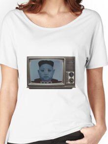 Kim Jong-Un Old TV Alien Version [Breaking News] Women's Relaxed Fit T-Shirt