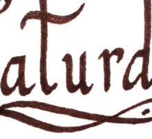 Saturday Sticker