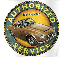 Datsun 2000 Authorized Service Poster