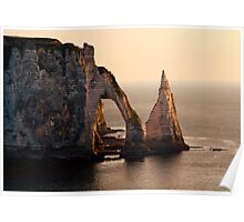 Etretat in the morning sun Poster