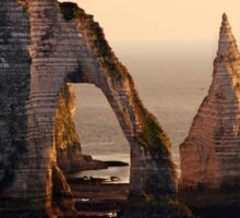 Etretat in the morning sun Sticker