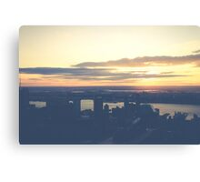 Sunset over NY Canvas Print