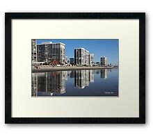 Reflections of Life On The Beach Framed Print