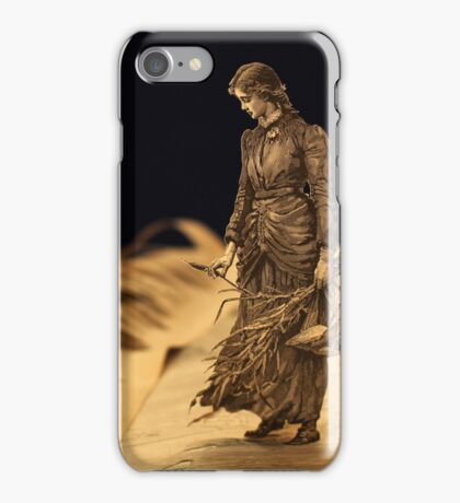 Perhaps I shall find out somebody's secret! book sculpture iPhone Case/Skin