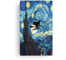The Starry Night Harry Potter fly Canvas Print