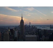 Sunset over NY Photographic Print
