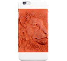 """Terracotta Lion"" by Carter L. Shepard""  iPhone Case/Skin"