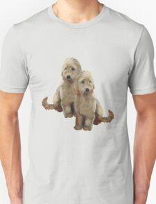 Golden Doodle Puppies, Dog Couple, Oil Pastel Art T-Shirt