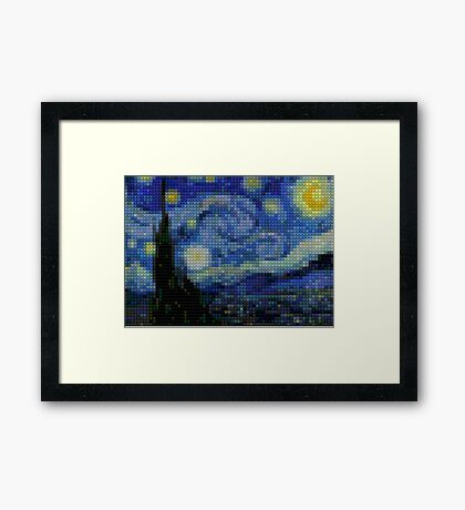 Lego - starry night Framed Print