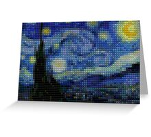 Lego - starry night Greeting Card