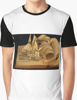 Treasure Island book sculpture. Still no soul appeared upon her decks. Graphic T-Shirt