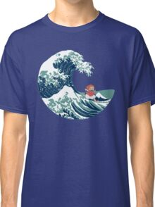 Ponyo and The Great Wave off Kanagawa - Moderne Classic T-Shirt