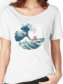 Ponyo and The Great Wave off Kanagawa - Moderne Women's Relaxed Fit T-Shirt